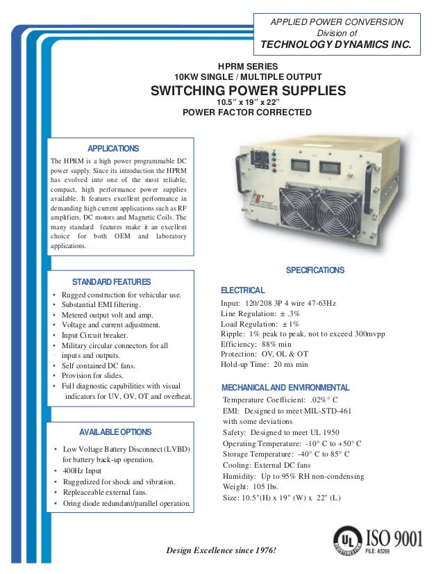 Switching Power Supply, Switch Mode Power Supply - Technology Dynamics
