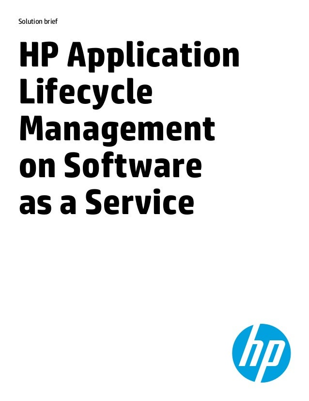 HP SaaS Application Lifecycle Management