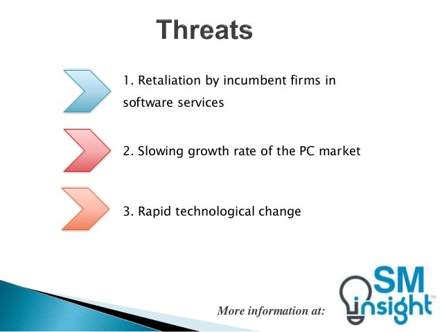 strategic analysis of hp Transcript of hp swot analysis strengths weaknesses opportunities threats prominent brand name recognition successful strategic acquisitions weak brands hp's.