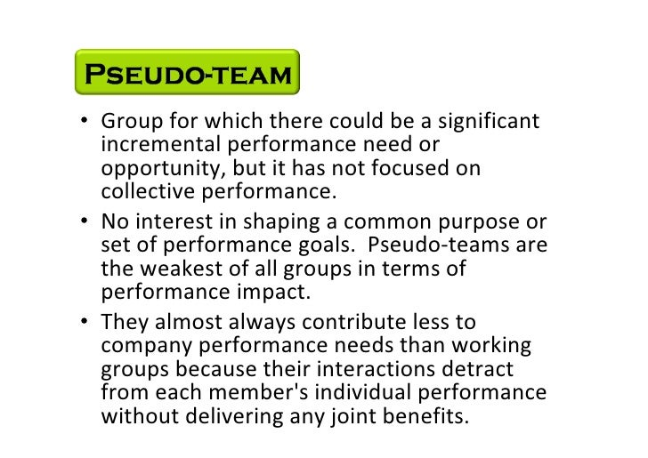 • Group for which there could be a significant            incremental performance need or            opportunity, but it h...