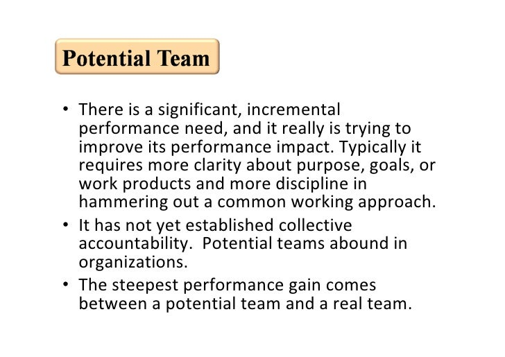 • There is a significant, incremental            performance need, and it really is trying to            improve its perfo...