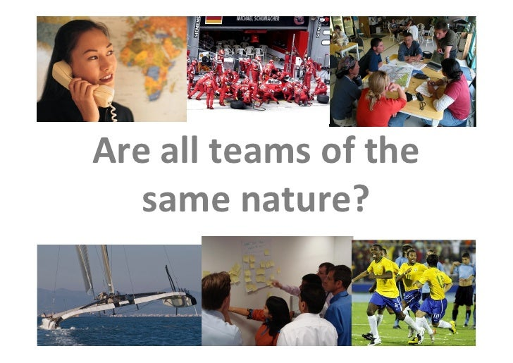 Are all teams of the                          same nature?  This is the property of Project Management Institute and may n...