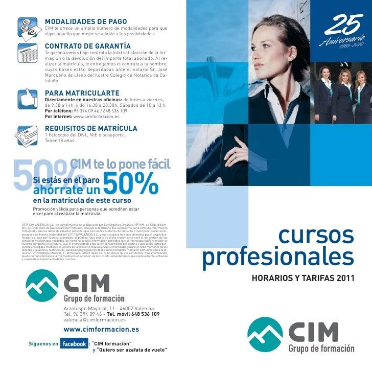 cursosprofesionales    HORARIOS Y TARIFAS 2011