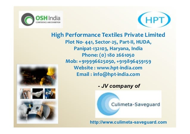 High Performance Textiles Private Limited     Plot No- 441, Sector-25, Part-II, HUDA,         Panipat-132103, Haryana, Ind...