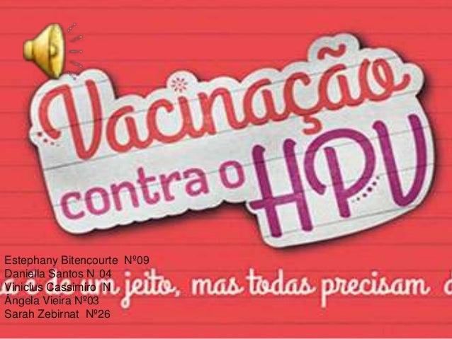 Estephany Bitencourte Nº09 Daniella Santos N 04 Vinicius Cassimiro N Ângela Vieira Nº03 Sarah Zebirnat Nº26