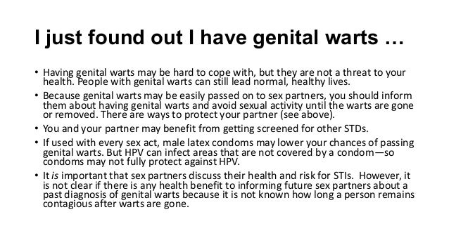 Dating site genital warts