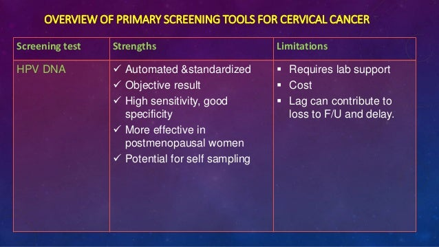 acog cervical cancer screening guidelines 2016 pdf