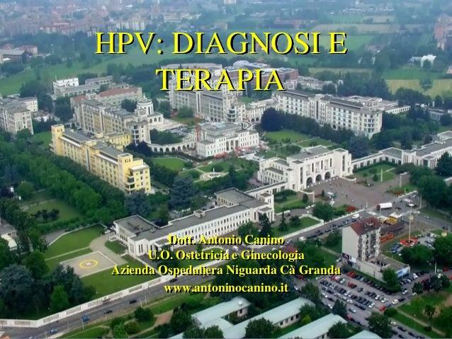 HPV: DIAGNOSI E TERAPIA  Dott. Antonio Canino U.O. Ostetricia e Ginecologia Azienda Ospedaliera Niguarda Cà Granda www.ant...
