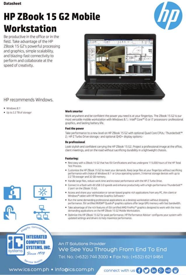 Data Sheet - HP ZBook 15 G@ Mobile Workstation