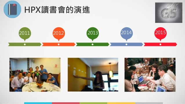 HPX讀書會的演進 2011 2012 2013 2014 2015