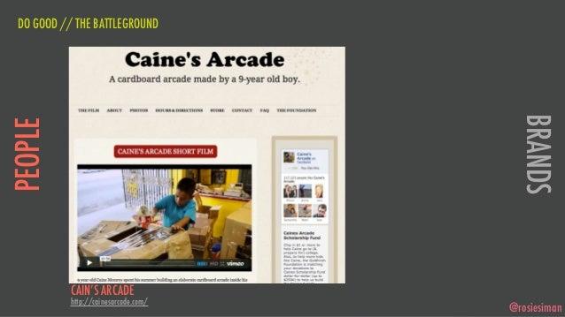 DO GOOD // THE BATTLEGROUND                                        BRANDSPEOPLE           CAIN'S ARCADE           http://c...