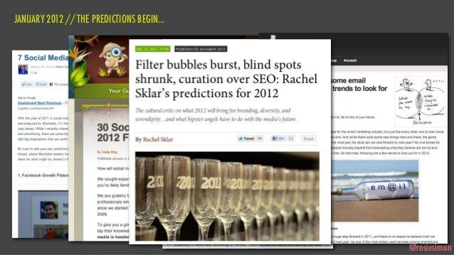 JANUARY 2012 // THE PREDICTIONS BEGIN...                                           @rosiesiman