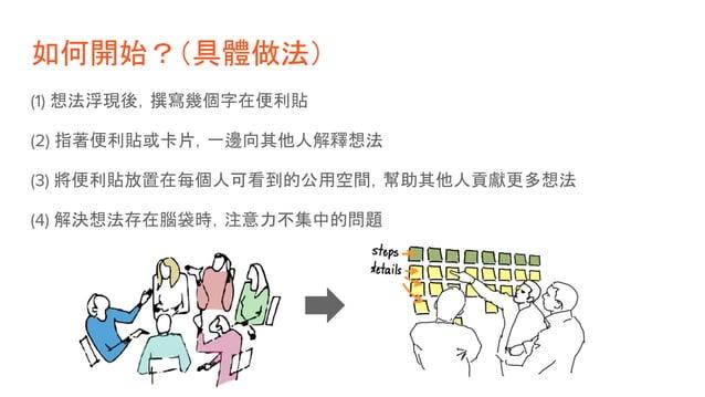 好的開始:構思想法 + 描述使用者 圍繞著「Outcome」為核心來思考,而不是「Output」 - 價值主張 => 你為什麼要建造這個軟體? - User => 誰是你的使用者? - User 使用後 outcome => 使用者會得到什麼好...