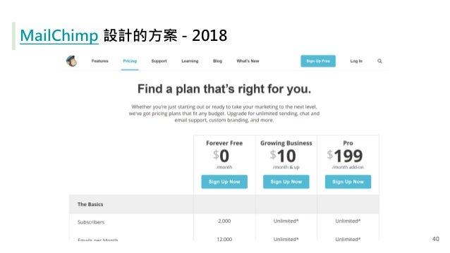 MailChimp 設計的方案 - 2018 40