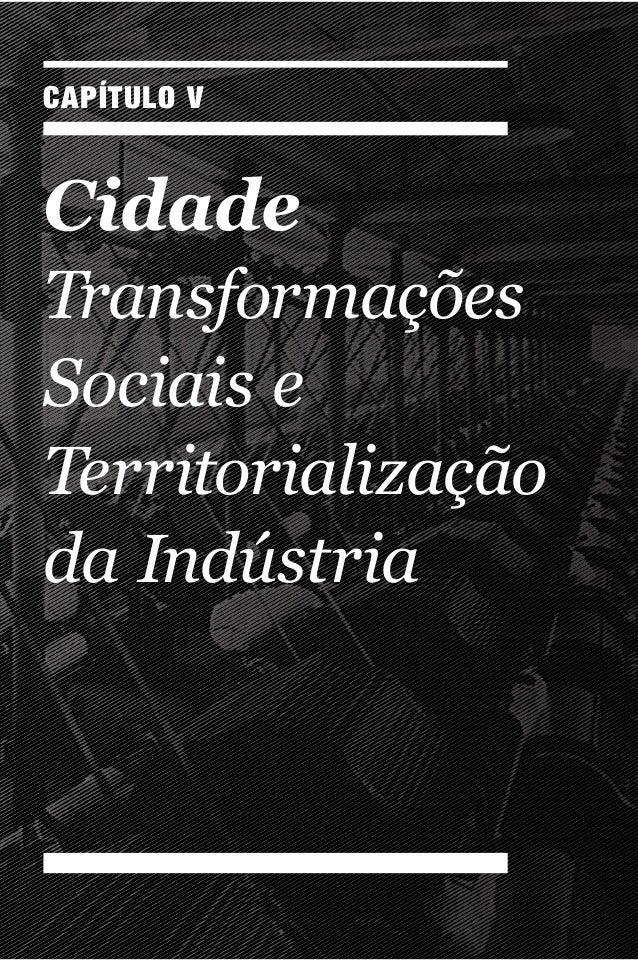 CAPÍTULO V Cidade Transformações Sociaise Territorialização daIndústria