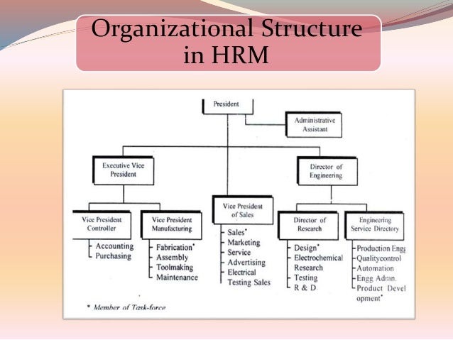 impact of organisational structure on management of hr Many other factors impact organizational performance  senior management  defines what is considered proper within the organization.