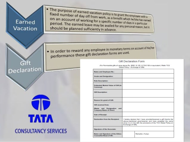 hr policies in tcs Analyze tcs' hr practices with respect to its policy related to compensation of its   options, performance appraisal, employee morale, incentives, hr policies,.