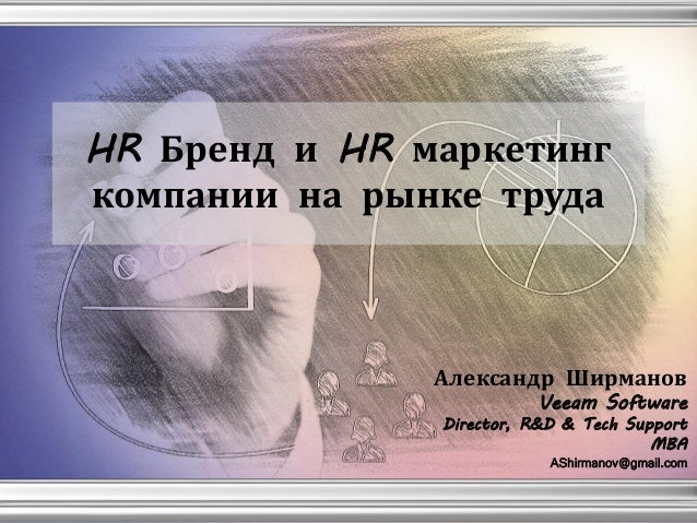 HR Бренд и HR маркетинг компании на рынке труда Александр Ширманов Veeam Software Director, R&D & Tech Support MBA AShirma...