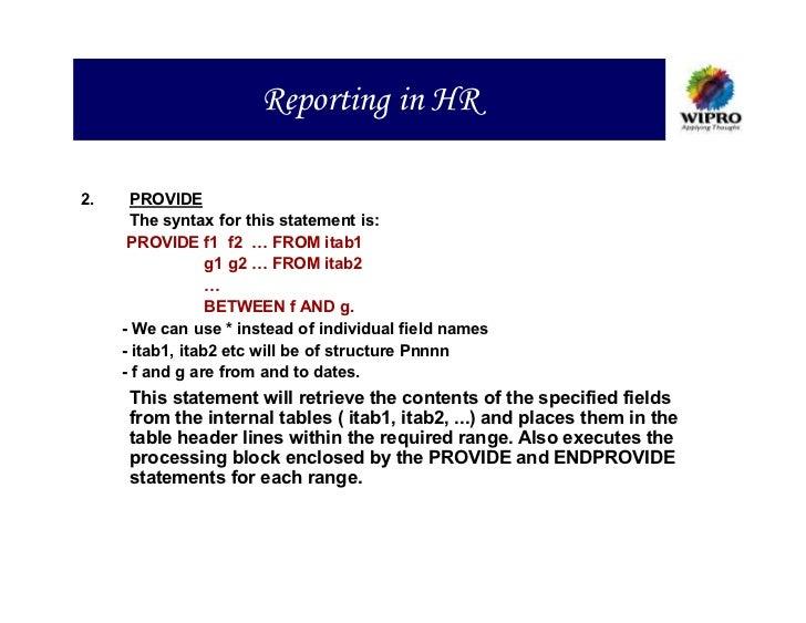 HR ABAP Programming Training Material | http://sapdocs info