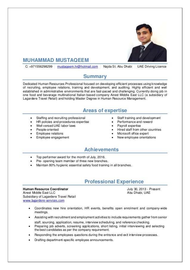 Hr cv- mustaqeem