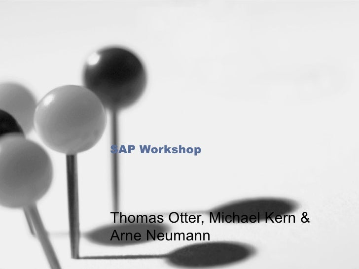 SAP Workshop Thomas Otter, Michael Kern & Arne Neumann