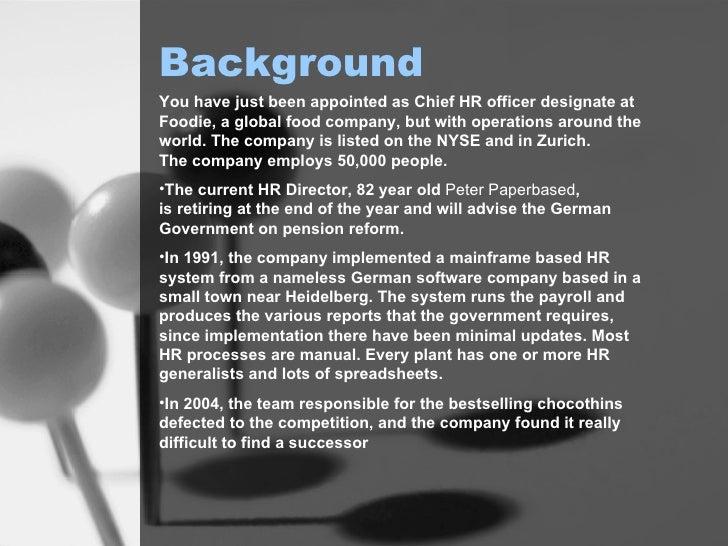 HR fictional case study-workshop Slide 2
