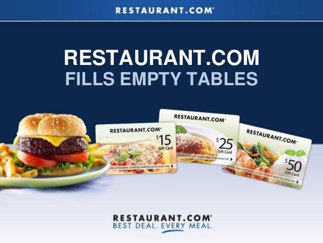 RESTAURANT.COMFILLS EMPTY TABLES