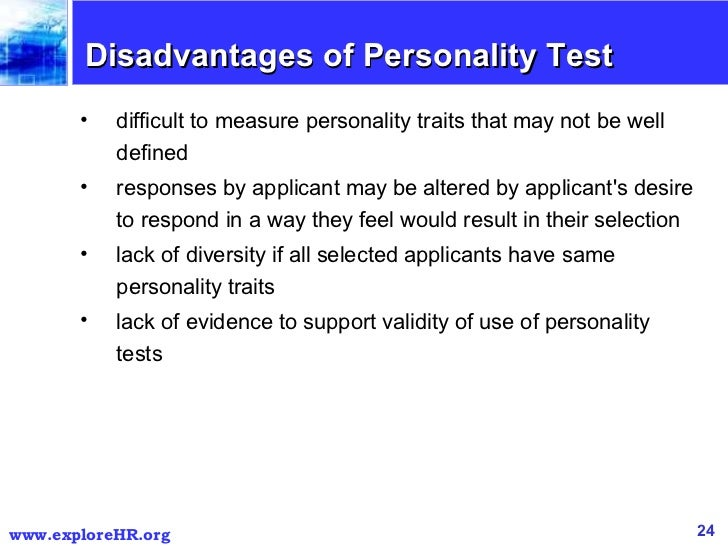 Personality and Personality Tests