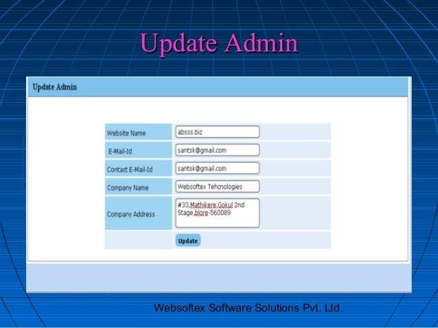 Update Admin Websoftex Software Solutions Pvt. Ltd.