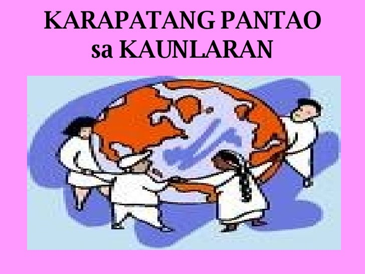 KARAPATANG PANTAO sa KAUNLARAN