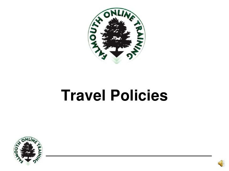 Travel Policies<br />