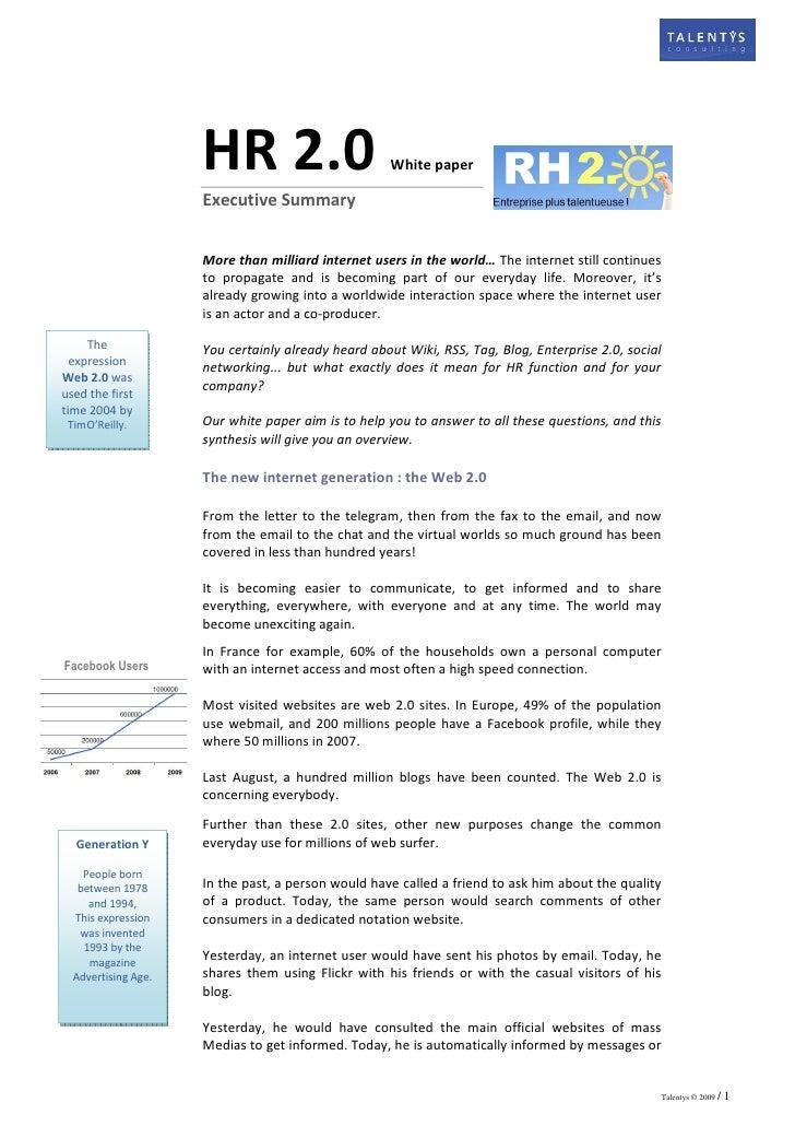 HR 2.0                         White paper                       Executive Summary                        More than millia...