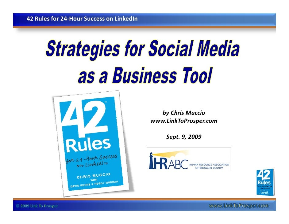 42 Rules for 24-Hour Success on LinkedIn                                                   by Chris Muccio                ...