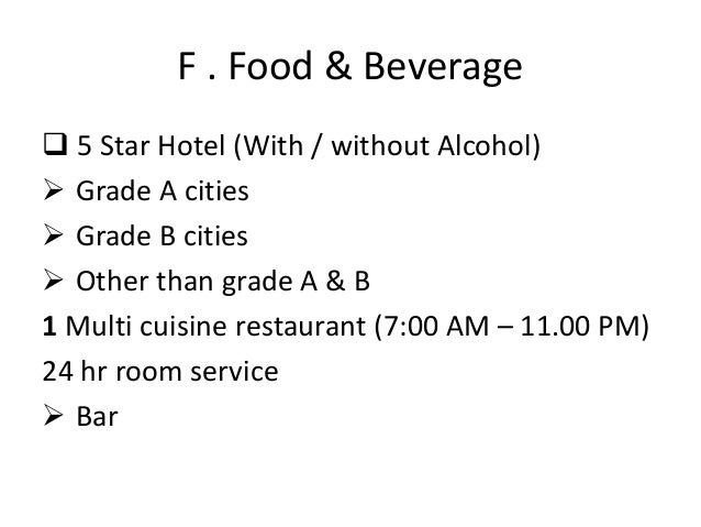Hracc 5 star hotel design requirements india for 5 star indian cuisine
