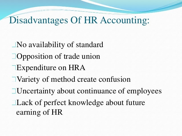benefits of human resource accounting