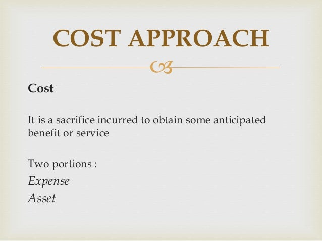   Historical cost Sacrifice that was made to acquire and develop the resource  Opportunity cost Money to be spent on HR...