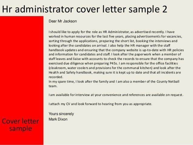 hr administrative assistant cover letter - Template