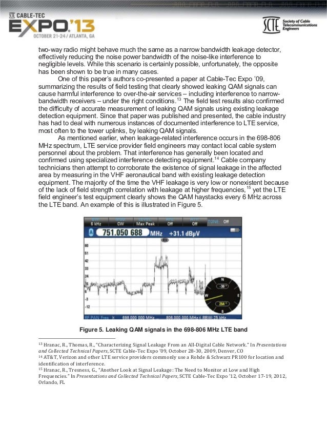 Signal Leakage And Ingress At Higher Frequencies