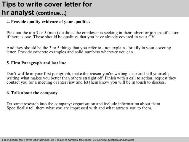 ... 4. Tips To Write Cover Letter For Hr Analyst ...