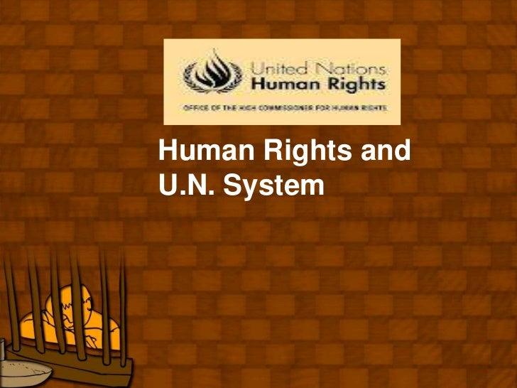 Human Rights andU.N. System