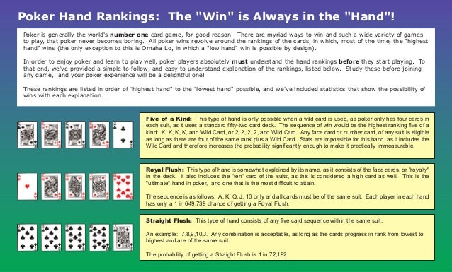 Poker Hand Ratings