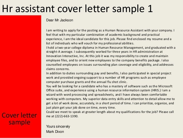 Hr Assistant Cover Letter from image.slidesharecdn.com