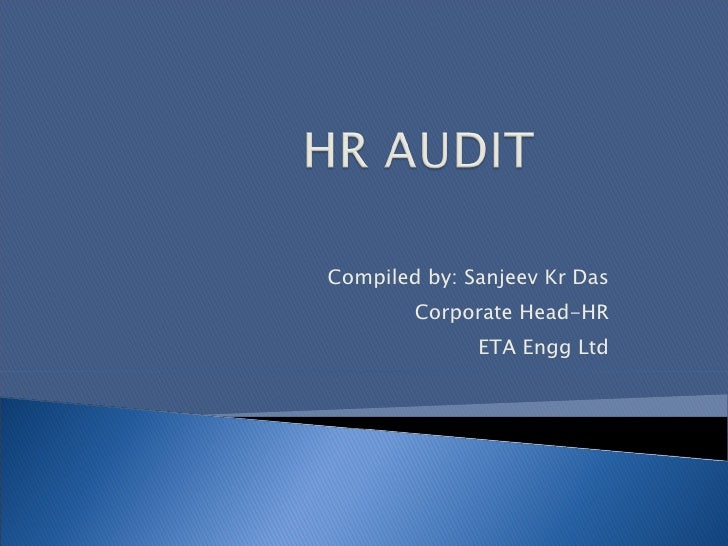 Hr audit presentation for Sample hr audit report template