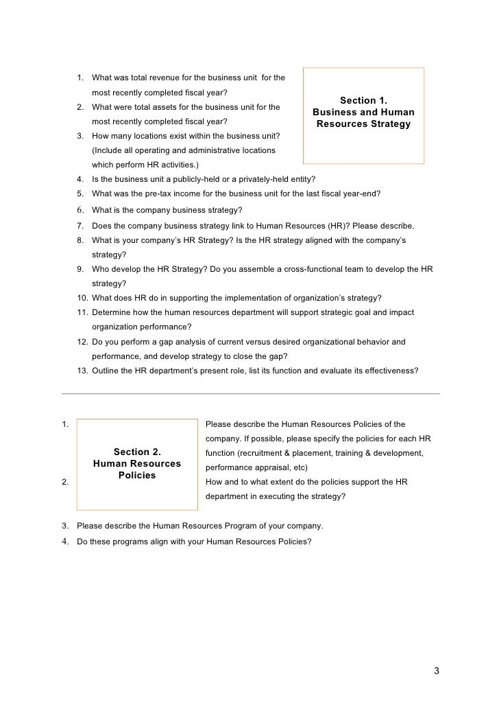 Hr Audit Questionnaire Copy