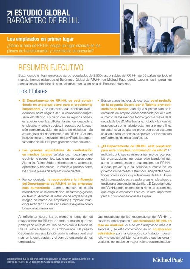 RESUMEN EJECUTIVO Basándonos en los numerosos datos recopilados de 2.500 responsables de RR.HH. de 65 países de todo el mu...