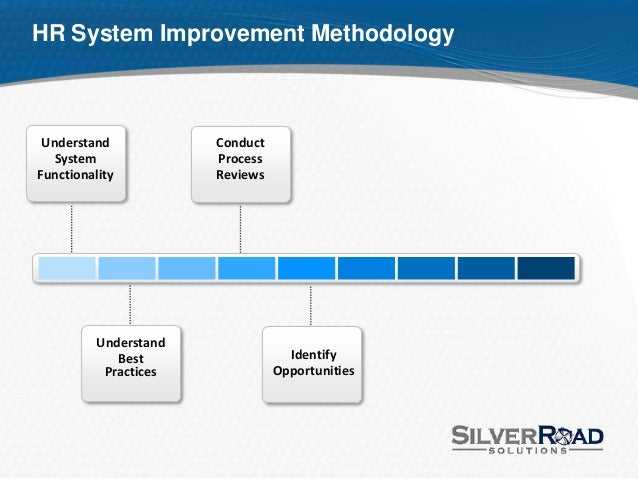 HR Best Practices for Improving HRMS / HRIS - Tom Sonde - SilverRoa…