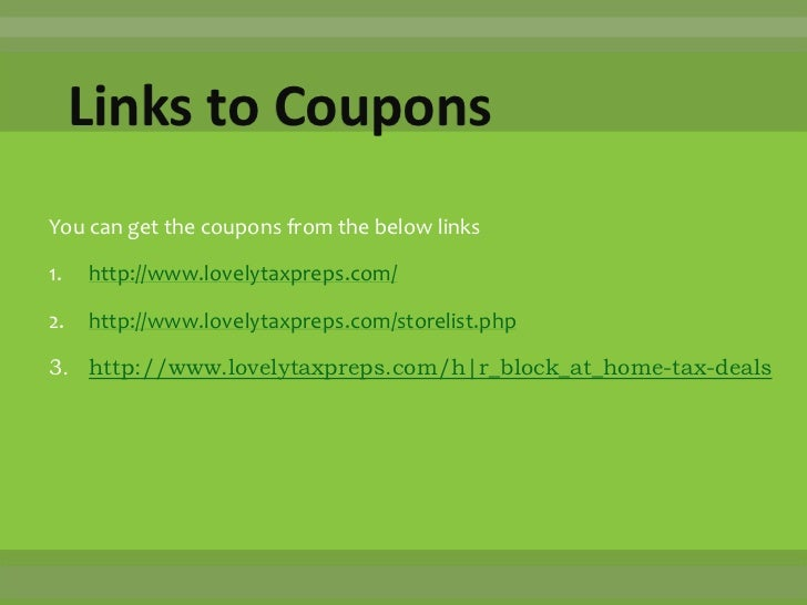 H&r block software coupon code