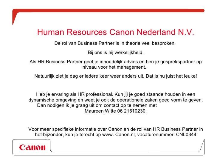 Vacature HR Business Partner Slide 2