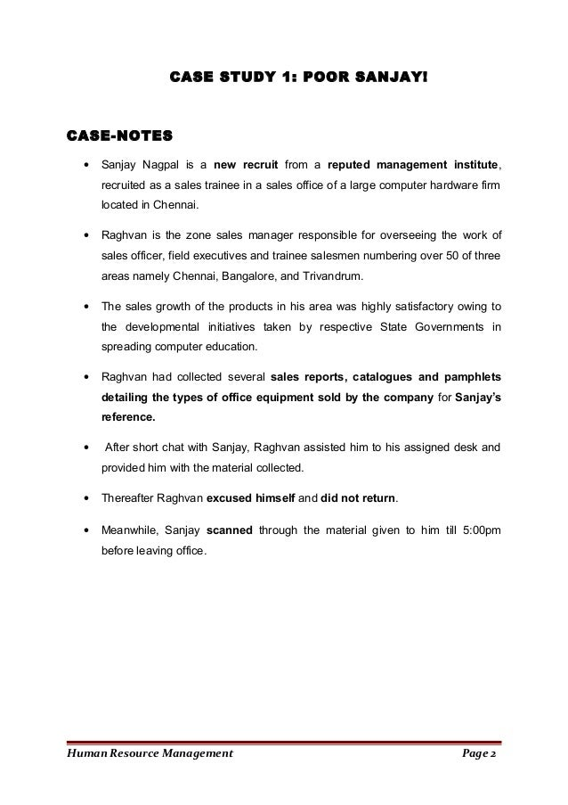 human resource management case study assignment growing pa Current practices of human resource management (hrm) in thai construction will continue to grow for several studies on productivity of the construction.