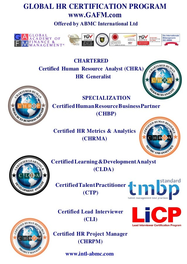 Human Resources Management Certification Course And Training
